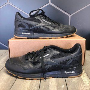 Used W/O Box! Reebok Classic 2.0 Black Gum Leather
